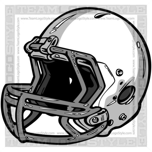 Football Helmet Logo Clipart Vector Image
