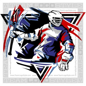 Lacrosse Player Clipart Vector Logo Image