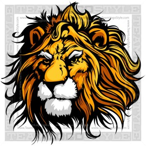 Lion Head Graphic -Vector Clipart Image