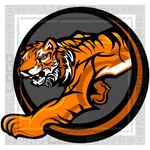 Tiger Icon - School Mascot Graphic
