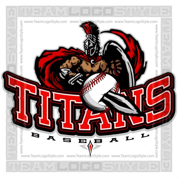 Titans Baseball Logo - Clipart Image