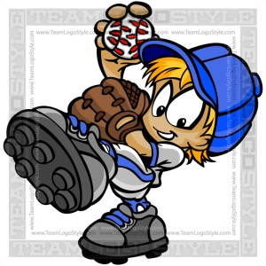Little League Pitcher Clipart Image