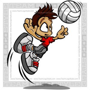 Volleyball Kid Clipart Vector Cartoon Image