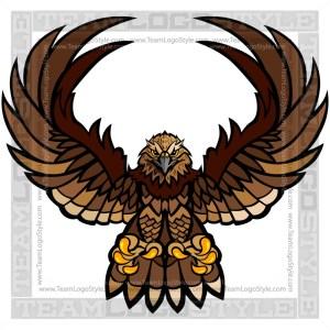 Falcon Clipart - Vector Mascot Graphic