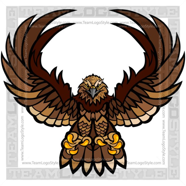 Falcon Clipart - Vector Mascot Graphic