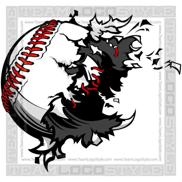 Baseball Exploding Clipart