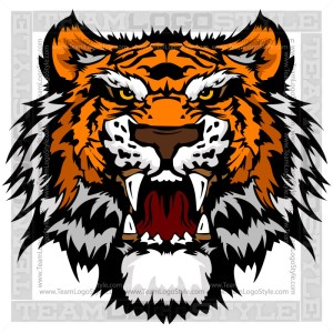 Mascot Tiger Head Clipart Graphic