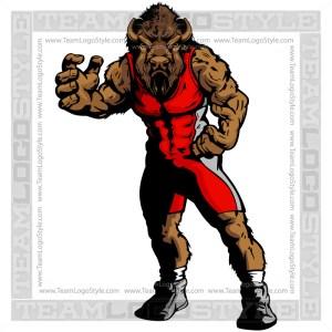 Buffalo In Wrestling Pose