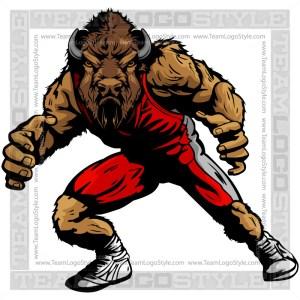 Buffalo Wrestling Clip Art