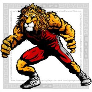 Lion Wrestling Clip Art