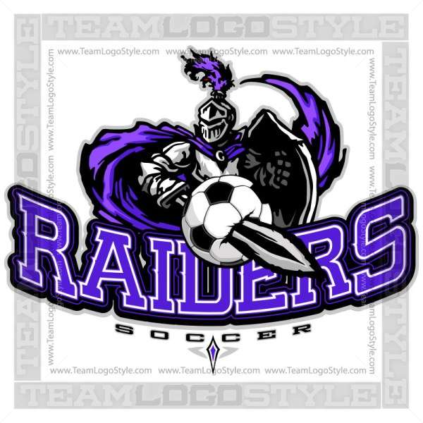 Raiders Soccer Design - Clip Art Logo