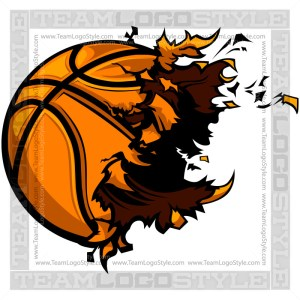 Basketball Exploding Clip Art