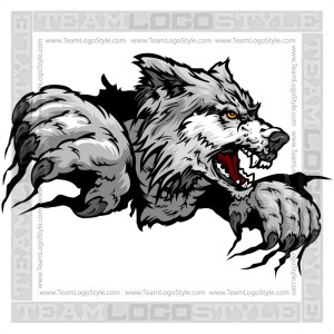 Clip Art Wolf Claws- Vector Mascot Graphic