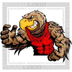Wrestling Falcon Mascot - Vector Clip Art