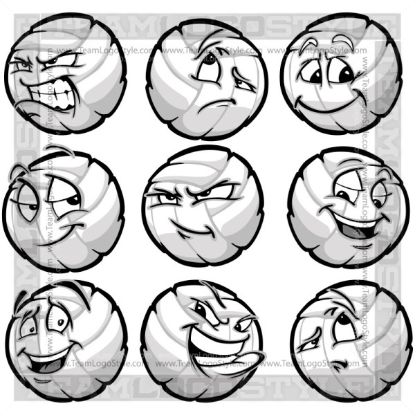 Cartoon Volleyball Clipart Image
