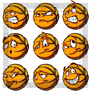 Happy Basketball - Cartoon Clipart