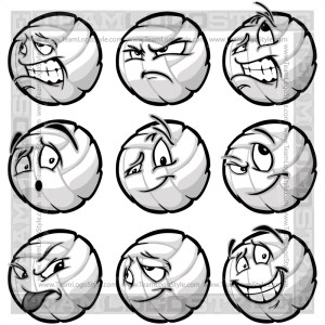 Happy Volleyball Clipart Cartoon