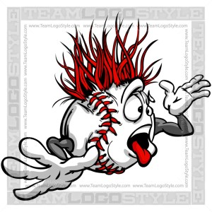 Wacky Baseball Cartoon Clip Art Image