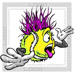 Wacky Tennis Ball Cartoon Clip Art Image