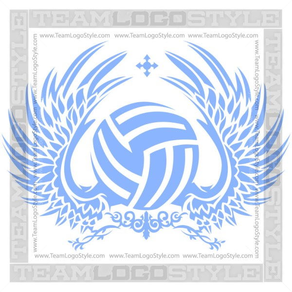 Wings Volleyball Clipart
