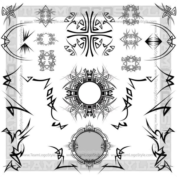 Tribal Design Elements - T-Shirt Design Set