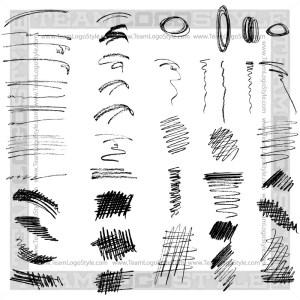 Pencil Sketch Elements - T-Shirt Design Set