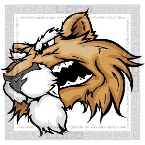 Cougar Clip Art - Vector Mascot Image