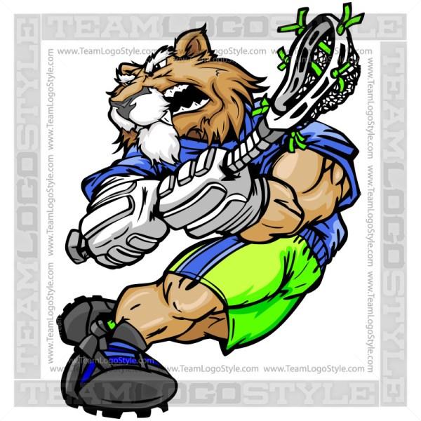 Cougar Lacrosse Clipart