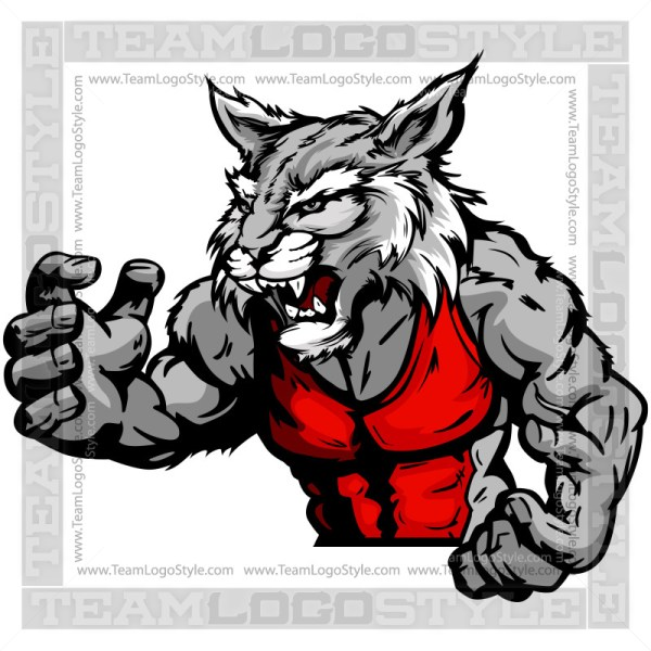 Clipart Wildcat Wrestler - Wrestling Mascot