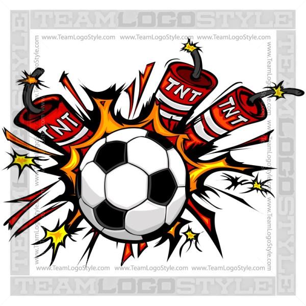 Dynamite Soccer Logo - Clip Art