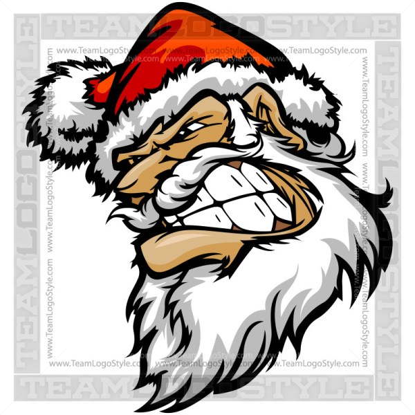 Determined Santa Claus Clip Art
