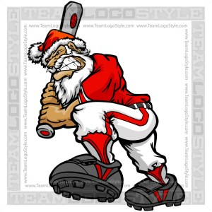 Santa Claus Baseball Clip Art Cartoon