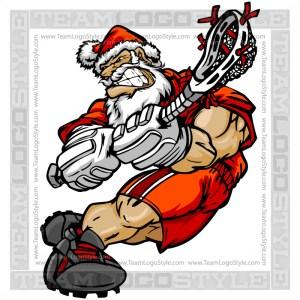 Santa Lacrosse Clip Art