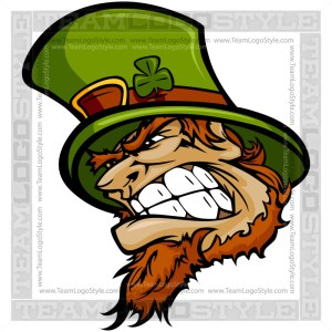 Mean Leprechaun Clip Art