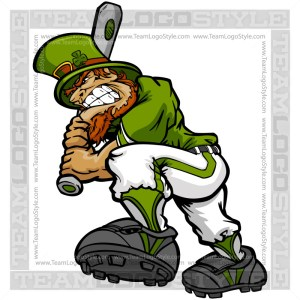 St Patricks Baseball Leprechaun