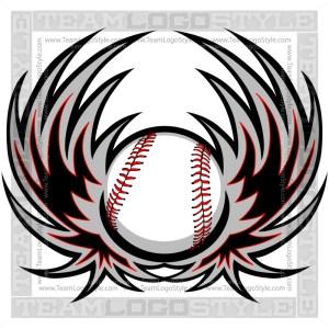 Baseball Vector Graphic Clip Art Image