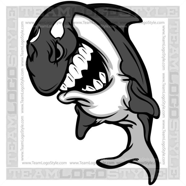 Killer Whale Graphic - Clip Art Cartoon