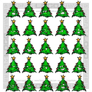 Christmas Tree Cartoon Faces Clip Art Cartoons