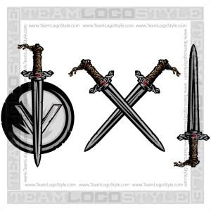 Vector Viking Sword Clip Art Image