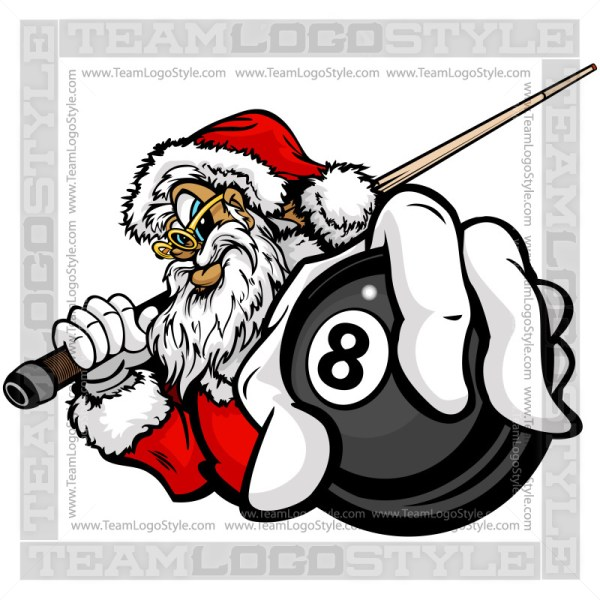 Christmas Billiards Clip Art
