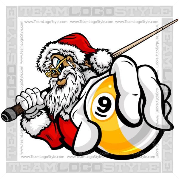 Christmas Nine Ball Clip Art