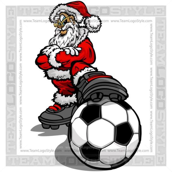 Christmas Soccer Clip Art