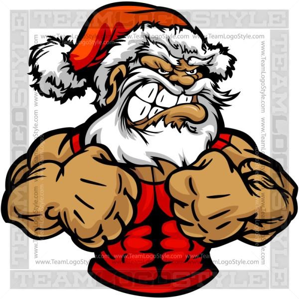 Strong Santa Claus Clip Art