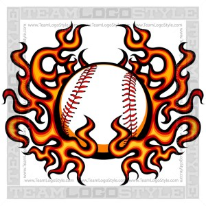 Vector Baseball Flames