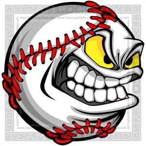 Clip Art Baseball Face