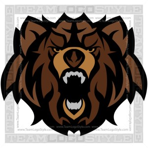 Grizzly Clip Art - Vector Mascot Graphic