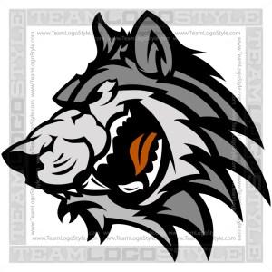 Wolf Clip Art - Vector Mascot Graphic