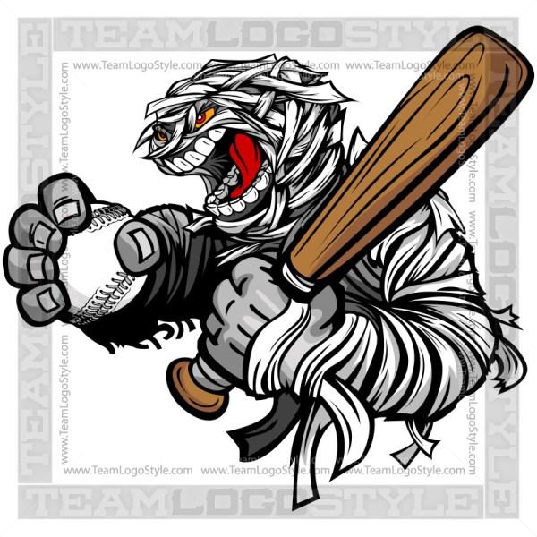 Mummy Softball Clip Art