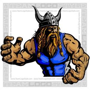 Wrestling Mascot Viking