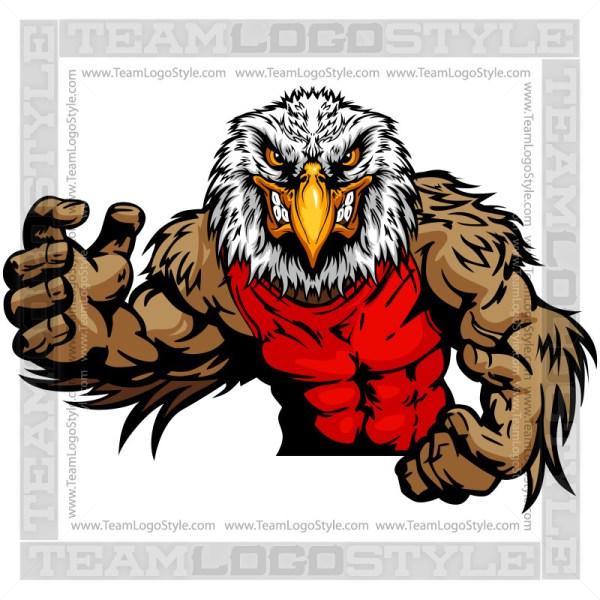 Eagle Wrestling Mascot